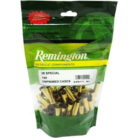 38 Special Unprimed Pistol Brass 100 Count