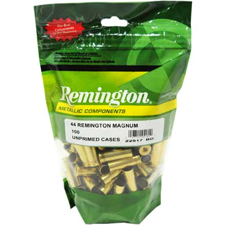 44 Remington Magnum Unprimed Pistol Brass 100 Count