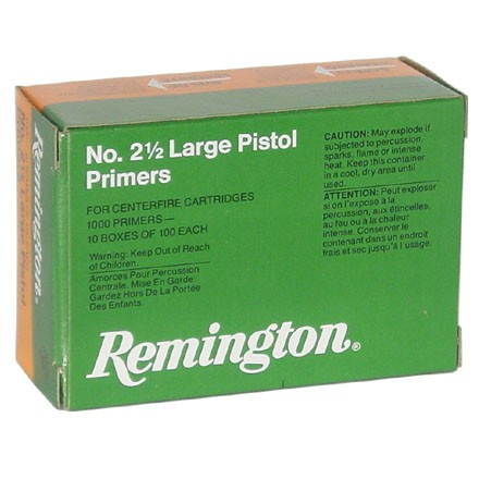Image for 2 1/2 Large Pistol Primer (1000 Count)