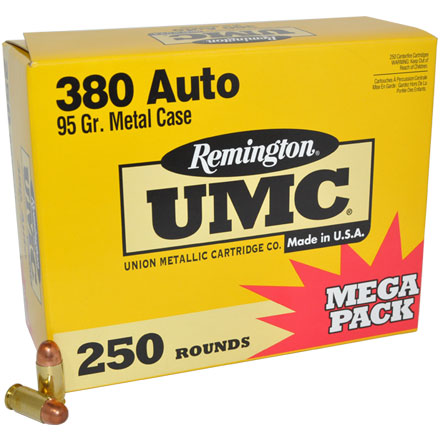 Image for 380 Automatic 95 Grain FMJ 250 Rounds