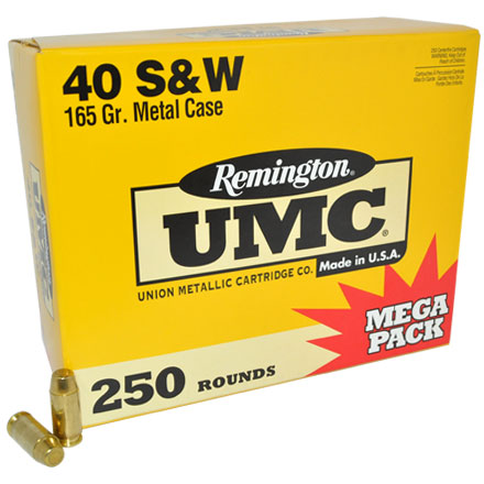 Image for 40 S&W 165 Grain FMJ 250 Rounds
