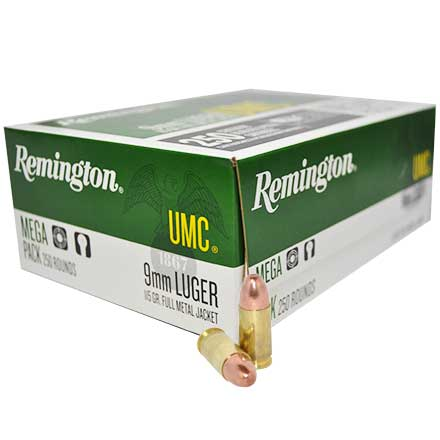 9mm Luger 115 Grain FMJ 250 Rounds
