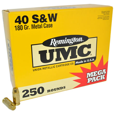 Image for 40 S&W 180 Grain FMJ 250 Rounds