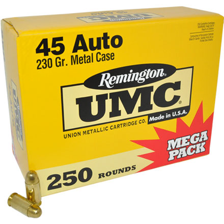 45 Automatic 230 Grain FMJ 250 Rounds
