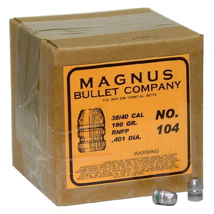 Image for 40 Caliber .401 Diameter 180 Grain Round Nose Flat Point Cowboy 500 Count