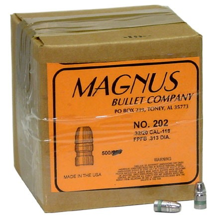 Image for 32-20 Caliber .313 Diameter 118 Grain Flat Point Cowboy 500 Count