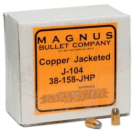 38/357 Caliber .357 Diameter 158 Grain Jacketed Hollow Point 250 Count