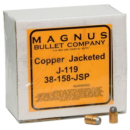 38/357 Caliber .357 Diameter 158 Grain Jacketed Soft Point 250 Count