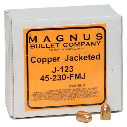 45 ACP .451 Diameter 230 Grain Full Metal Jacket 250 Count