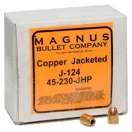 45 ACP .451 Diameter 230 Grain Jacketed  Hollow Point 250 Count