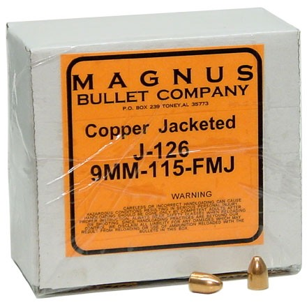 9mm .355 Diameter 115 Grain Full Metal Jacket 250 Count