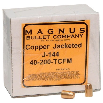10mm/40 Caliber .400 Diameter 200 Grain Truncated Cone 250 Count