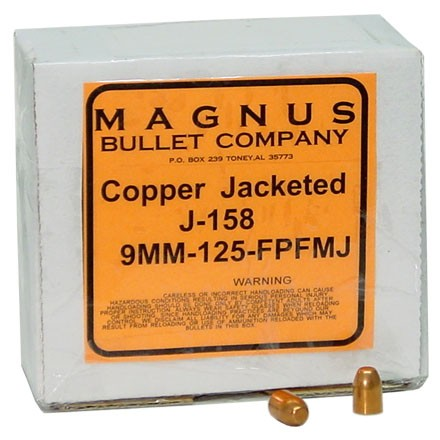 9mm .355 Diameter 124 Grain Flat Point 250 Count