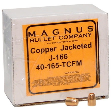 10mm/40 Caliber .400 Diameter 165 Grain Truncated Cone 250 Count