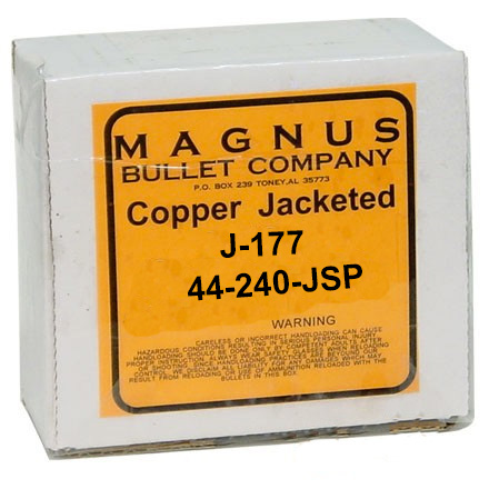 44 Caliber .429 Diameter 240 Grain Jacketed Soft Point 250 C ount