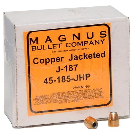 45 ACP .451 Diameter 187 Grain Jacketed Hollow Point 250 Count