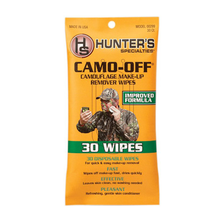 Camo-Off Make-Up Remover Wipes 30 Pack