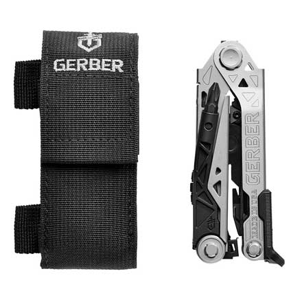 Gerber Center-Drive Multi-Tool Stainless Steel Handle with Belt Sheath