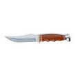 "Leather Handled Skinner 4-3/8"" Blade 8-1/4"" Overall With Leather Sheath"