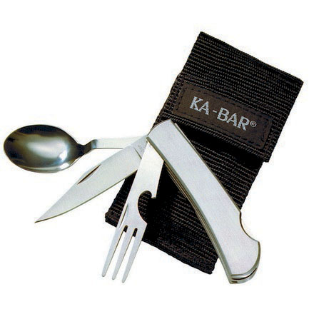 Ka-Bar Stainless Hobo Fork, Knife, and Spoon