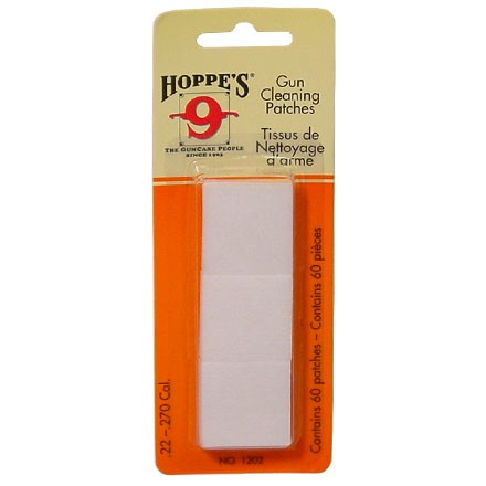 Hoppe's #2 Cleaning Patch 22-270 Caliber 60 Count