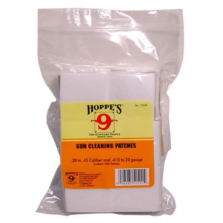 Hoppe's #4 Cleaning Patch 38-45 Caliber/410/20 Gauge 500 Count