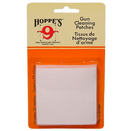 Hoppe's #5 Cleaning Patch 12-16 Gauge 25 Count