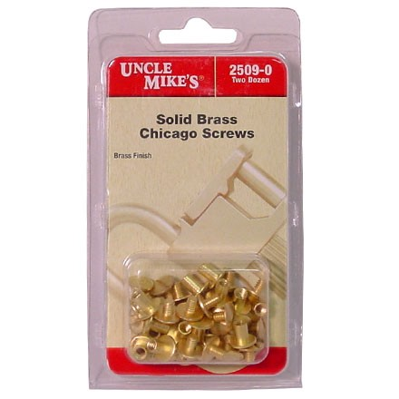 Brass Chicago Screws (24 Pack)
