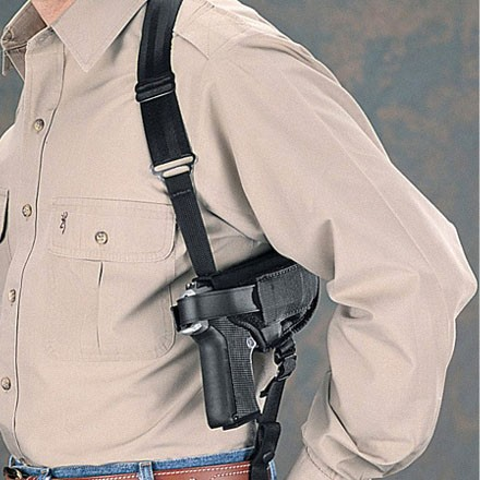 Image for Size 15 Black Ambidextrous Cross-Harness Horizontal Shoulder Holsters