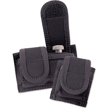 Black Single Speedloader Case Velcro Closure