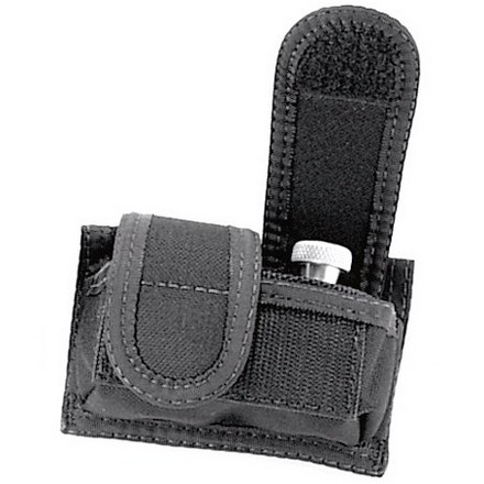 Black Double Speedloader Case Velcro Closure