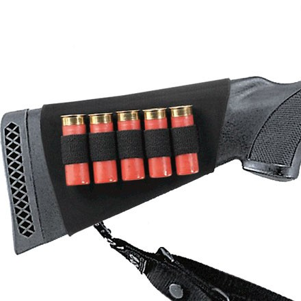 Neoprene Shotgun Butt Stock Shell Holder 5 Loops