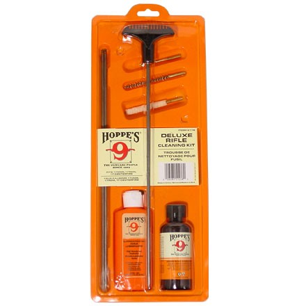 Hoppe's 17 /204 Cal Cleaning Kit  with 3 Piece Steel Rod