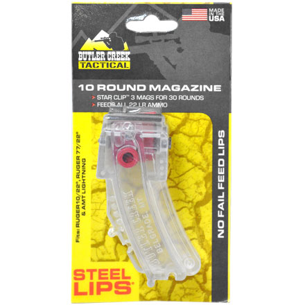 Butler Creek 10/22 Clear Hot Lips Magazine With Steel Lips 10 Rounds