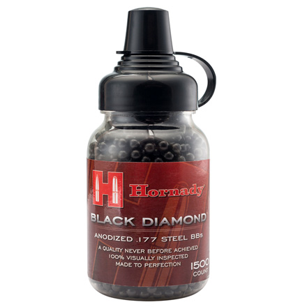 Image for Hornady Black Diamond Anodized .177 Steel BBs 1500 Count