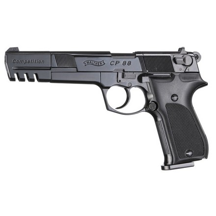 Walther CP88 Competition .177 Caliber Air Pistol Black Barrel