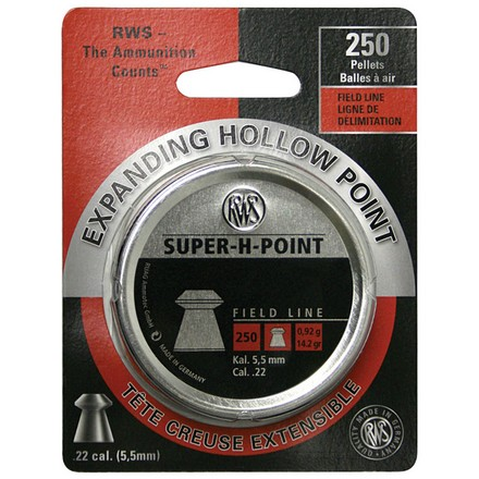 Super H (Hollow Point) .22 Caliber 250 Count