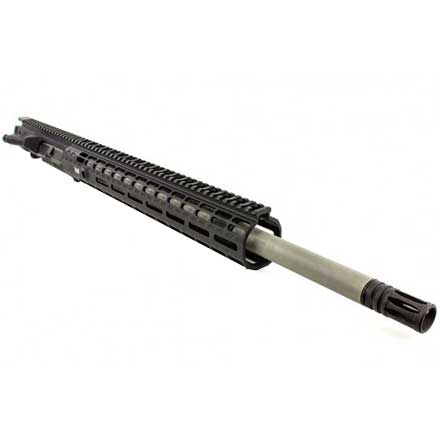 M5E1 Assembled Upper 20 inch 6 5 Creedmoor SS Rifle Barrel M-LOK 15 HG -  Anodized Black No BCG
