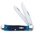 "Trapper 2 Blade With Blue Bone Handle 4 1/8"" Closed"