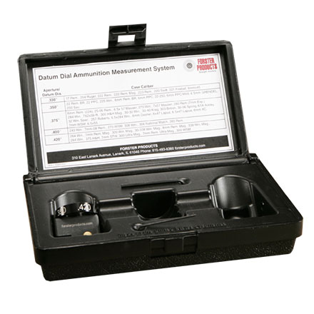 Datum Dial Ammunition Measurement System Body with Case Dial in Storage Box
