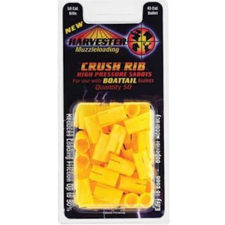 50 Cal Crush Rib High Pressure Sabots Holds 45 Cal Bullets for Boat Tail Bullets 50 Pack