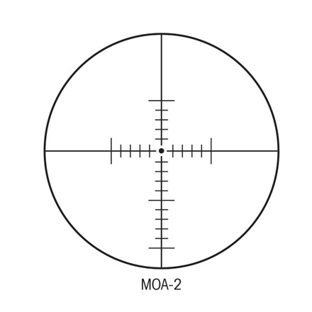 SIIISS 6-24x50mm Long Range With MOA Reticle Matte Finish