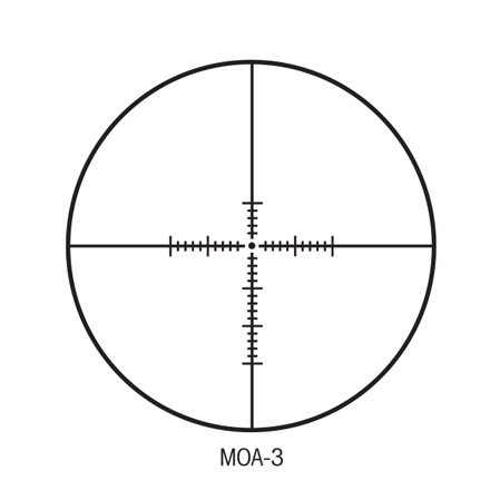 S-TAC 30mm 3-16x42 Side Focus With MOA Reticle Matte Finish