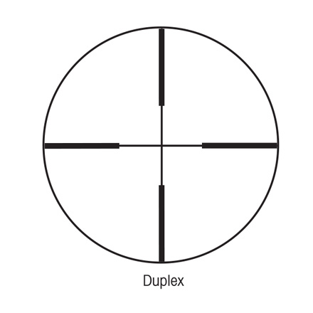 SIH 3-9x40mm With Duplex Reticle Matte Black Finish