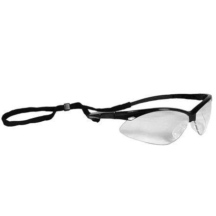 Outback Shooting Glasses Clear Lens Black Frame