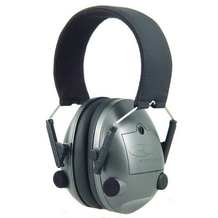Image for Pro AMP Low Profile Electronic Earmuff With Cool Max Headband NRR 23