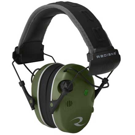 R-Series R-3400 Quad Mic Military Green and Black Earmuff