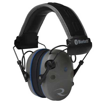R-Series R-3700 Bluetooth Quad Mic Pewter and Black Earmuff