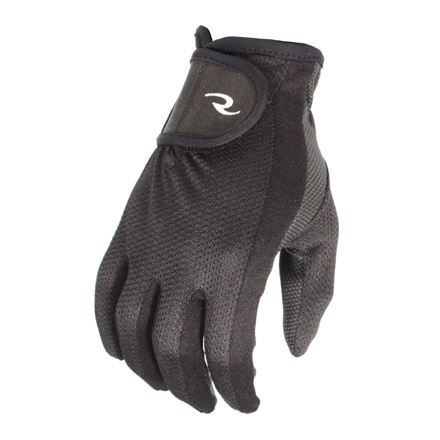 Synthetic Leather Palm Mesh Back Shooting Gloves M/L Black-Gray