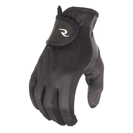 Mens Goatskin Leather Palm Mesh Back Shooting Gloves L/XL Black